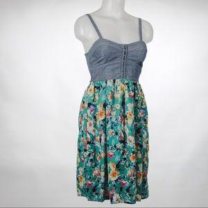 Xhilaration Denim Flower Dress size S/P